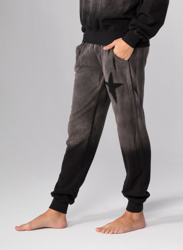 ASYMMETRICAL STAR STENCIL - Flat Pocket Sweatpants