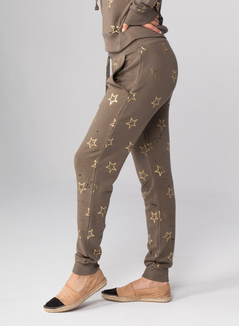 ALL-OVER STARS OUTLINE - Flat Pocket Sweatpants