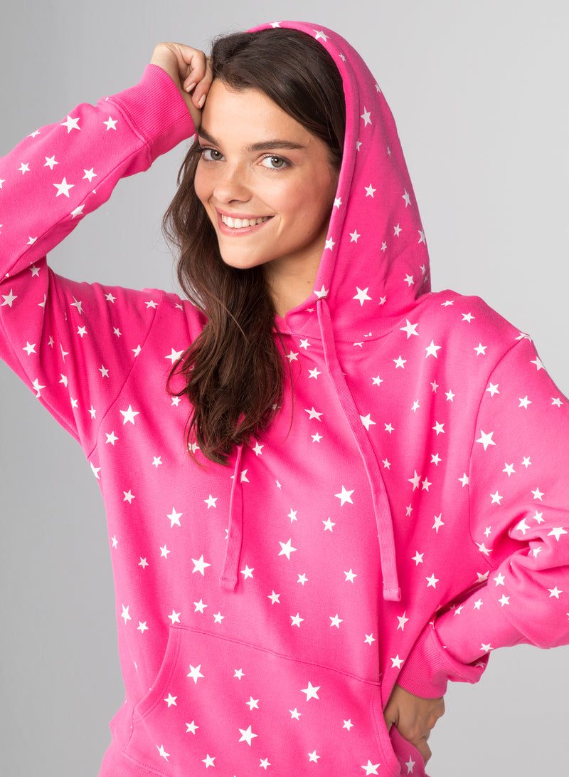 ALL-OVER SCATTERED STARS - Kangaroo Hoodie