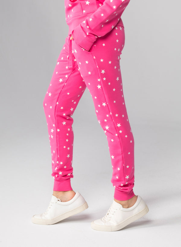ALL-OVER SCATTERED STARS - Flat Pocket Sweatpants