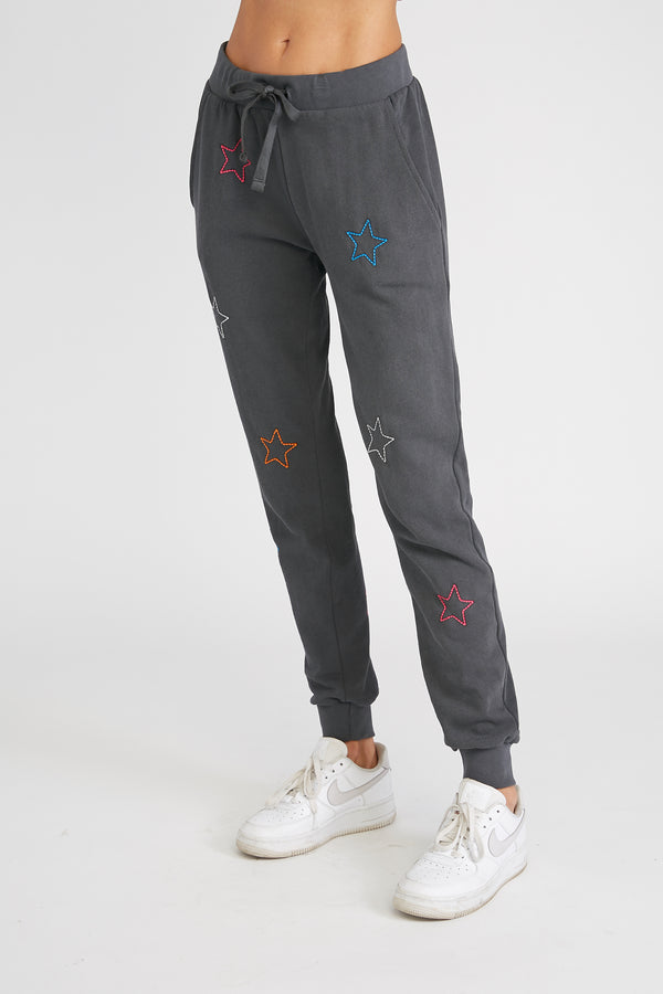 CHRLDR-Color Stars - Flat Pocket Sweatpants