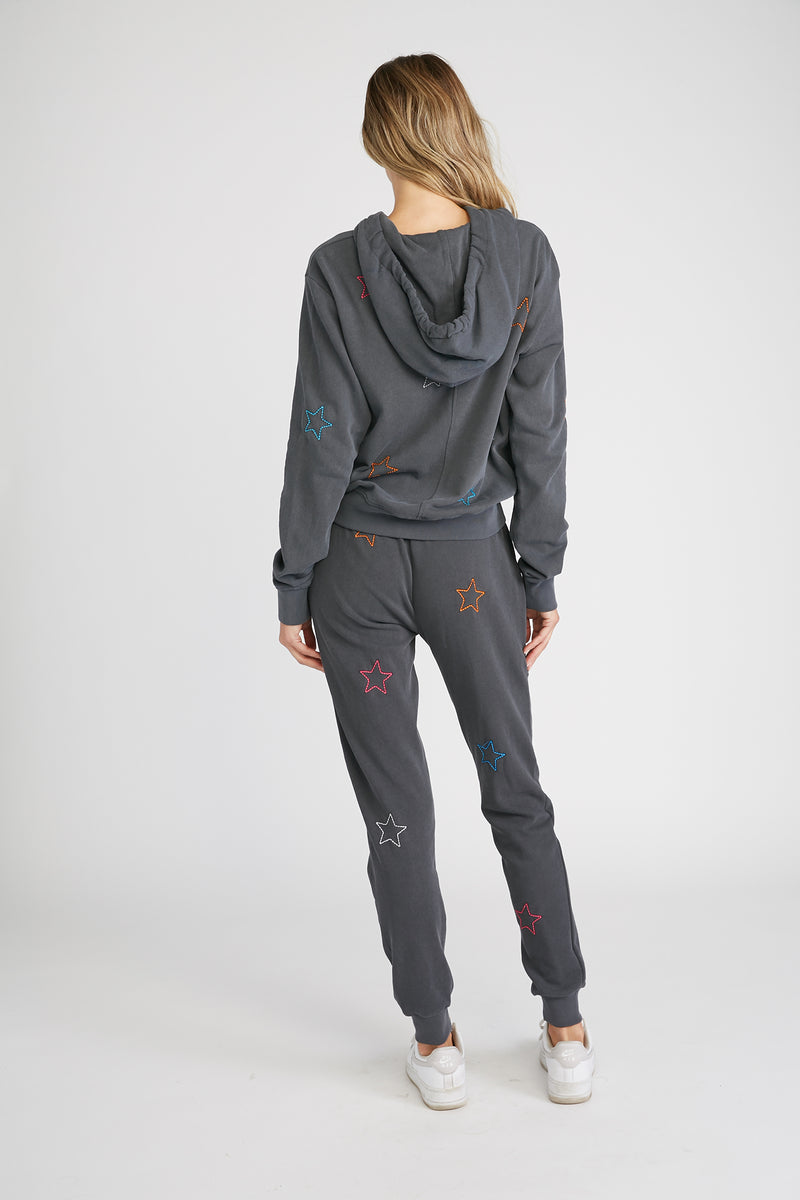 CHRLDR-Color Stars - High-Low Zip-Up Hoodie