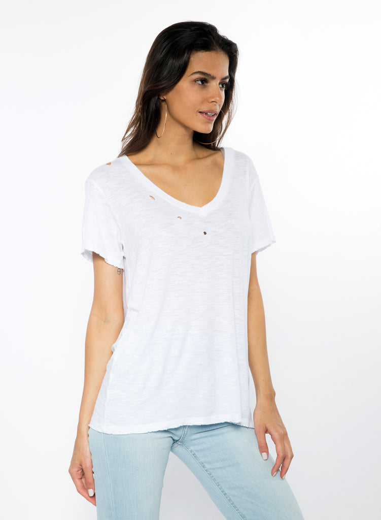 CHRLDR-V-Neck T-Shirt (White)