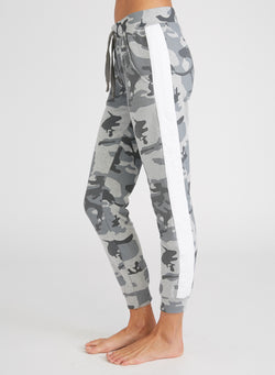 CHRLDR-Camo Stripe Insert — Flat Pocket Sweatpants