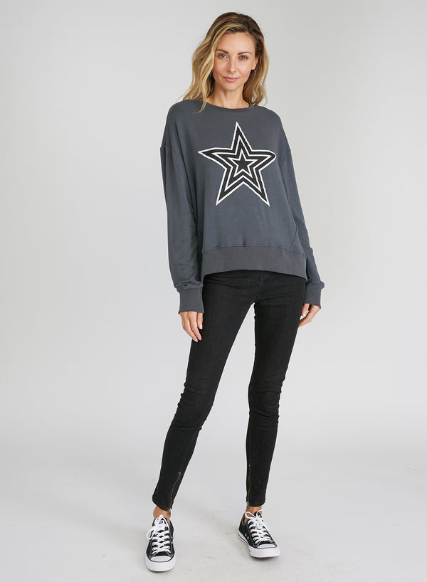 CHRLDR-Op Stars - Panel Oversized Sweatshirt