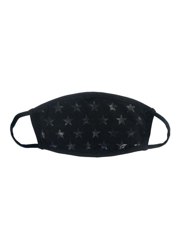 CHRLDR-DISTRESSED STARS - Cotton Face Mask