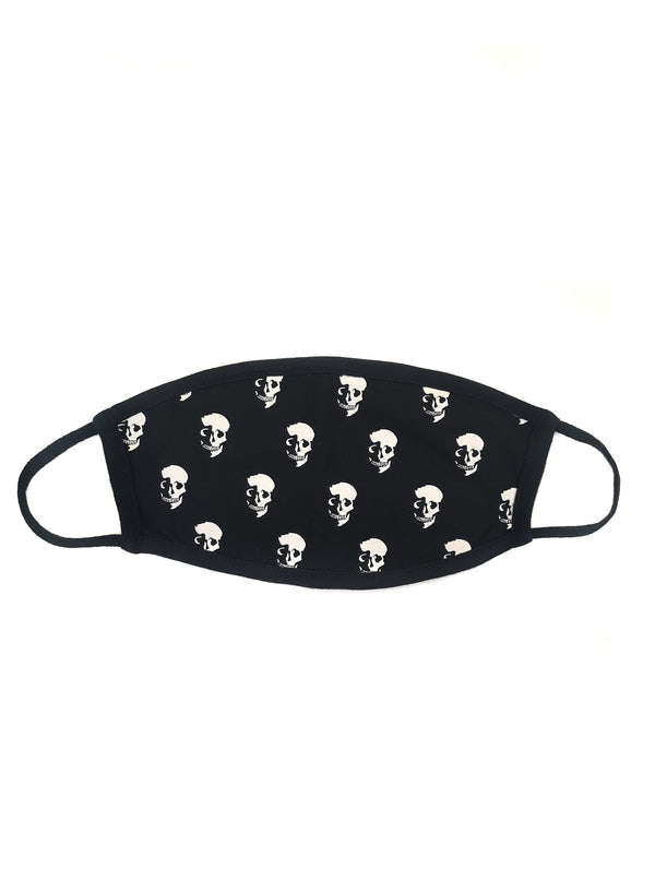 CHRLDR-SKULL SHADOW - Cotton Face Mask