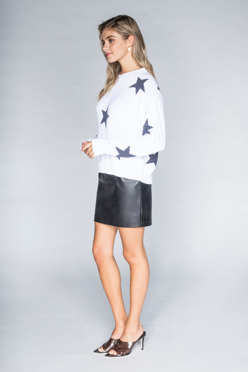 CHRLDR-Rainbow Stars - Dropped Shoulder Sweater