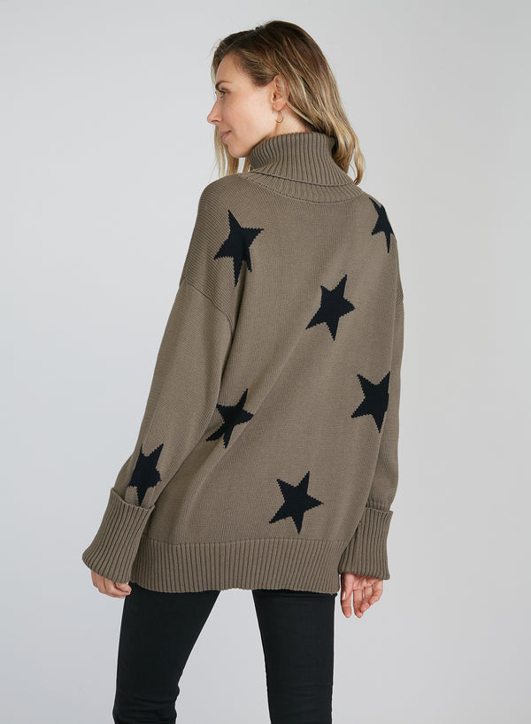 CHRLDR-Falling Stars - Turtleneck Sweater