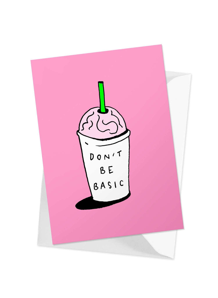 CHRLDR.COM_'Don't Be Basic' Greeting Card