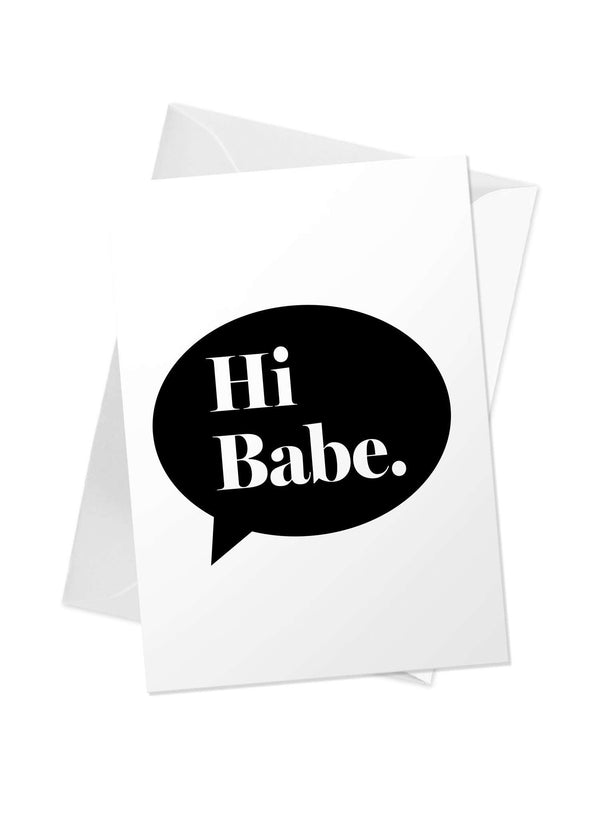 CHRLDR-'Hi Babe' Greeting Card