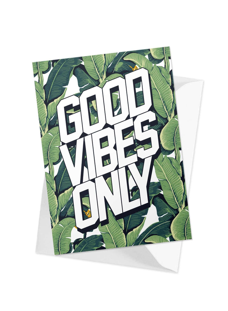 CHRLDR.COM_'Good Vibes' Greeting Card