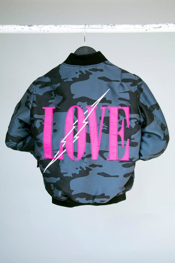 CHRLDR-Love Black Camo - Reversible Bomber Jacket