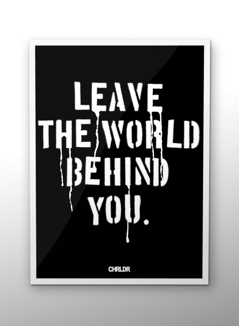CHRLDR-LEAVE THE WORLD — Poster
