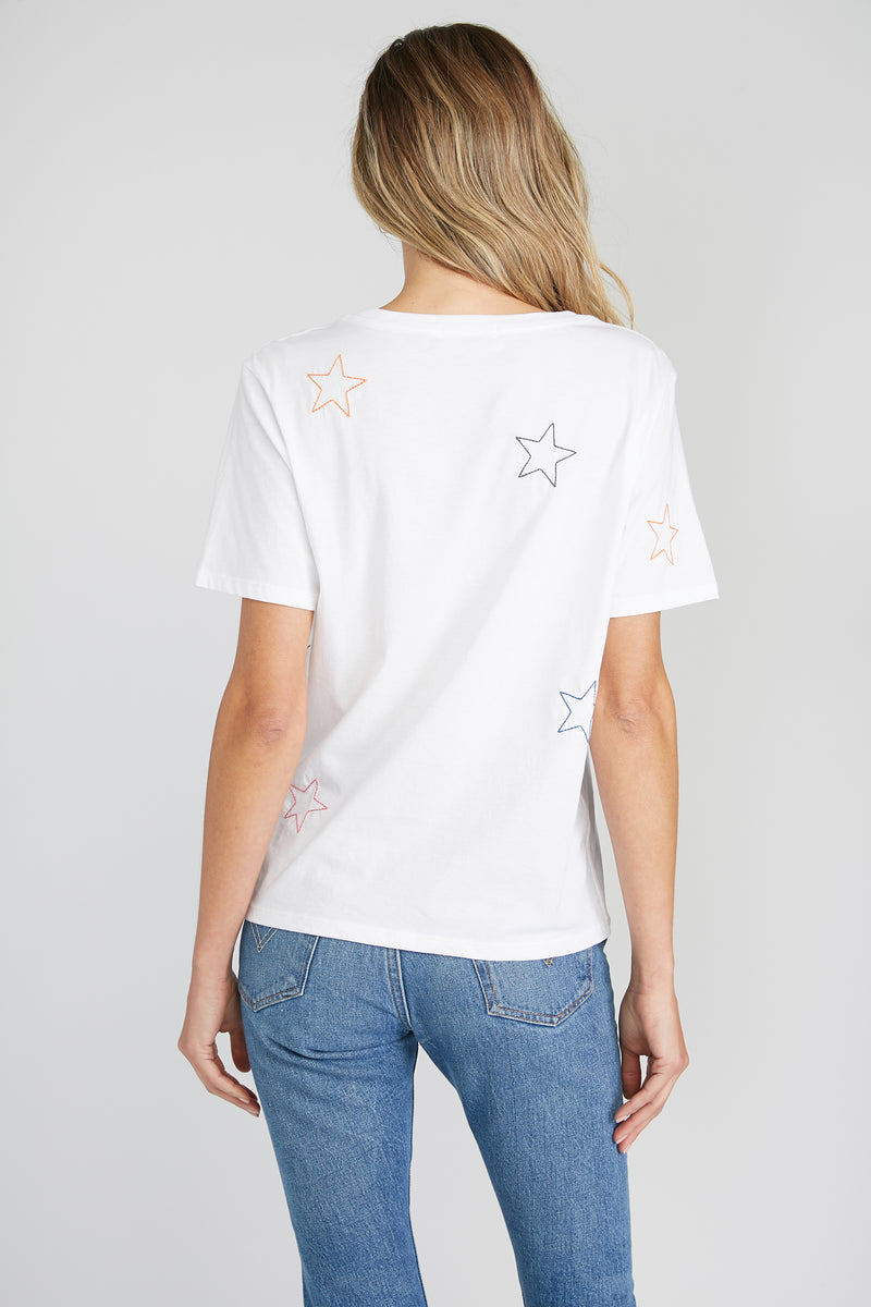 CHRLDR-Rainbow Stars - Wide T-Shirt