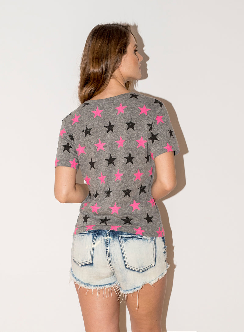 CHRLDR-Bicolor Stars — Wide T-Shirt