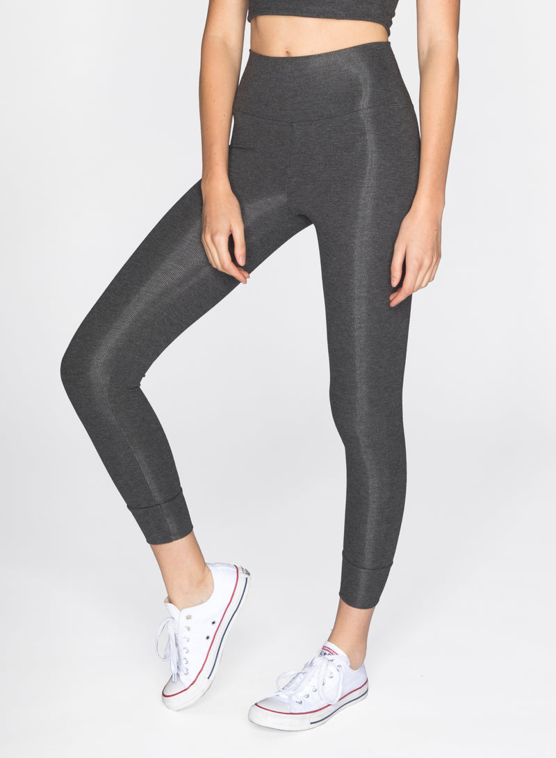 CHRLDR-VALENTINA - 7/8 Ribbed Leggings