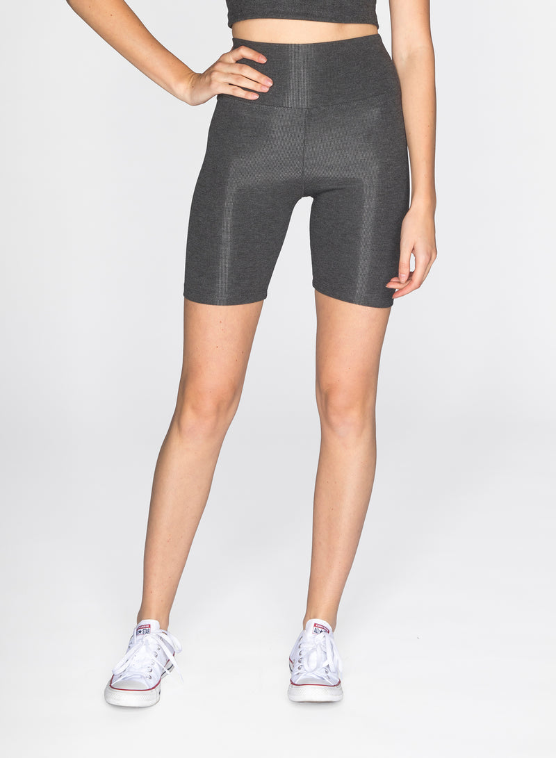 CHRLDR-VALI - Ribbed Bicycle Shorts