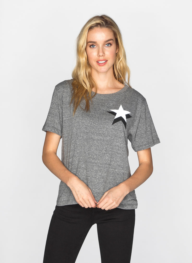 CHRLDR-DOUBLE STAR - Wide T-Shirt