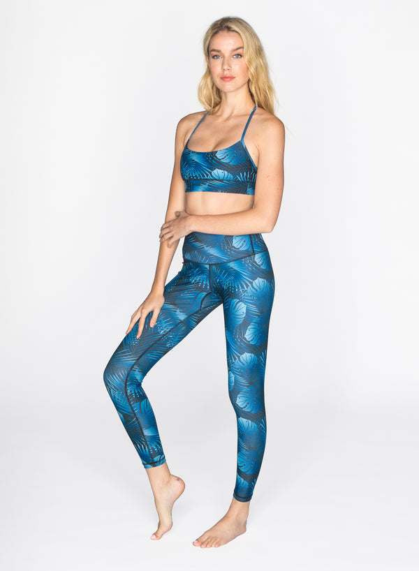 CHRLDR-NIGHT PALMS - High Waisted Leggings