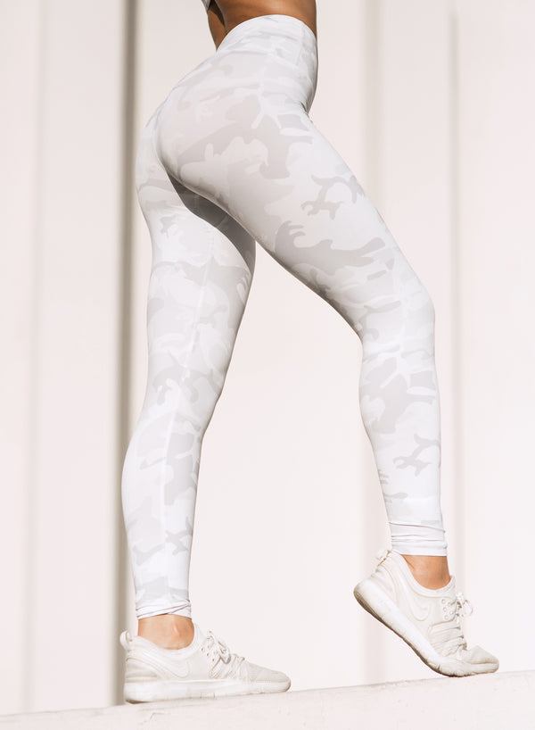 CHRLDR-ECRU CAMO — High Waisted Leggings