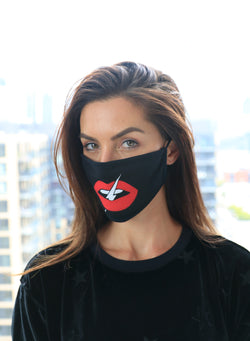 CHRLDR-LIPS - Cotton Face Mask