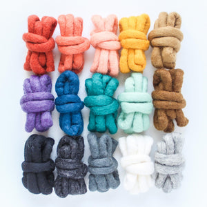Rainbow Pack - XXL Felted Wool Rope
