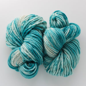 Load image into Gallery viewer, Fjord Blue Silver Sparkle Handdyed Chunky Yarn