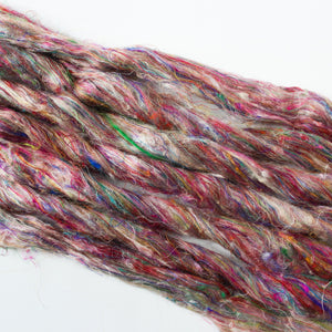 Sari Silk Roving - Wildflower