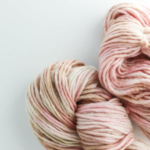 Load image into Gallery viewer, Pink Fawn Gold Sparkle Handdyed Chunky Yarn