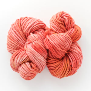 Coral Gold Sparkle Handdyed Chunky Yarn