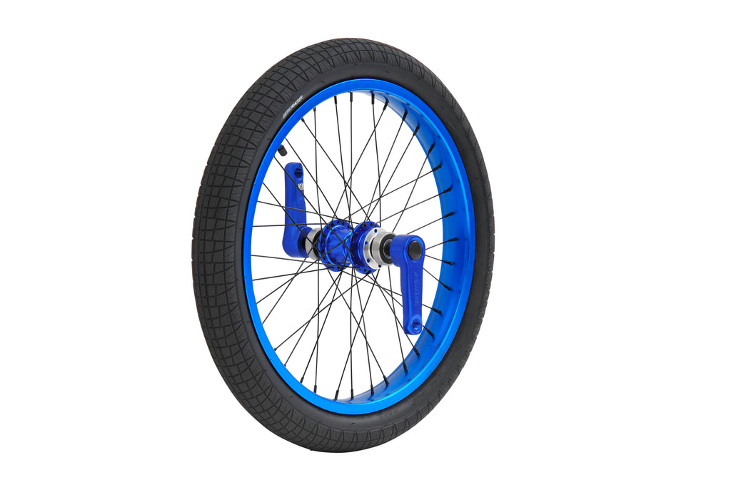 TRIAD DYNASTY FRONT WHEEL SET ANODIZED BLUE