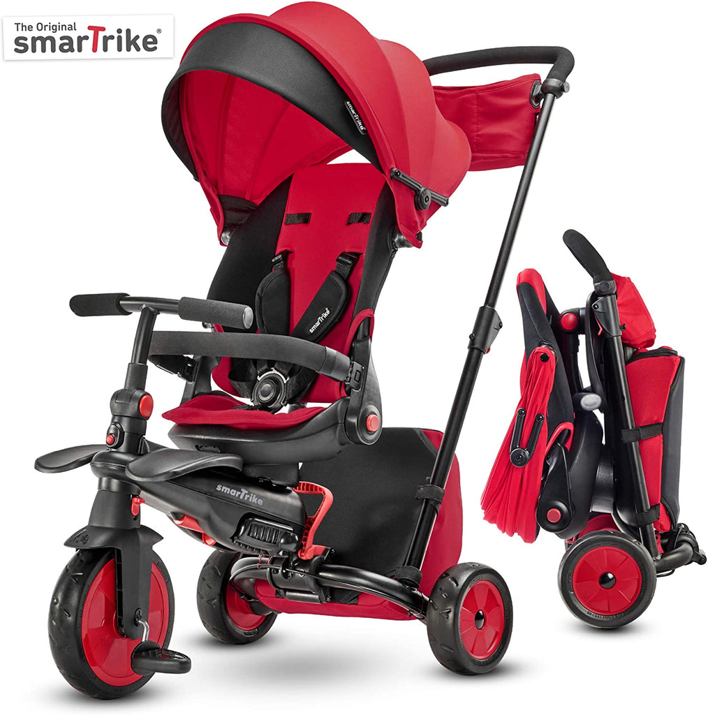 SMARTRIKE STR7J. 7 IN 1 FOLDING TRIKE - RED
