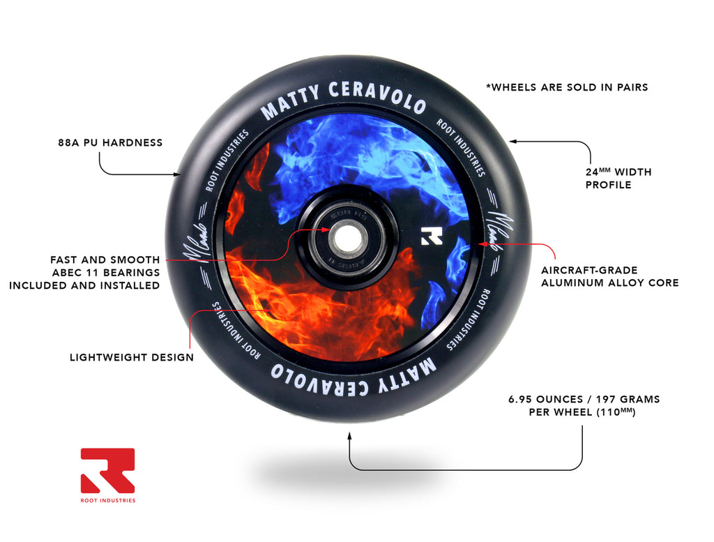 ROOT 110MM AIR WHEELS FIRE | MATTY CERAVOLO 2 PACK