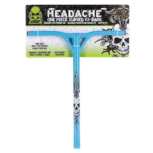HEADACHE Y BAR 31.8MM BLUE