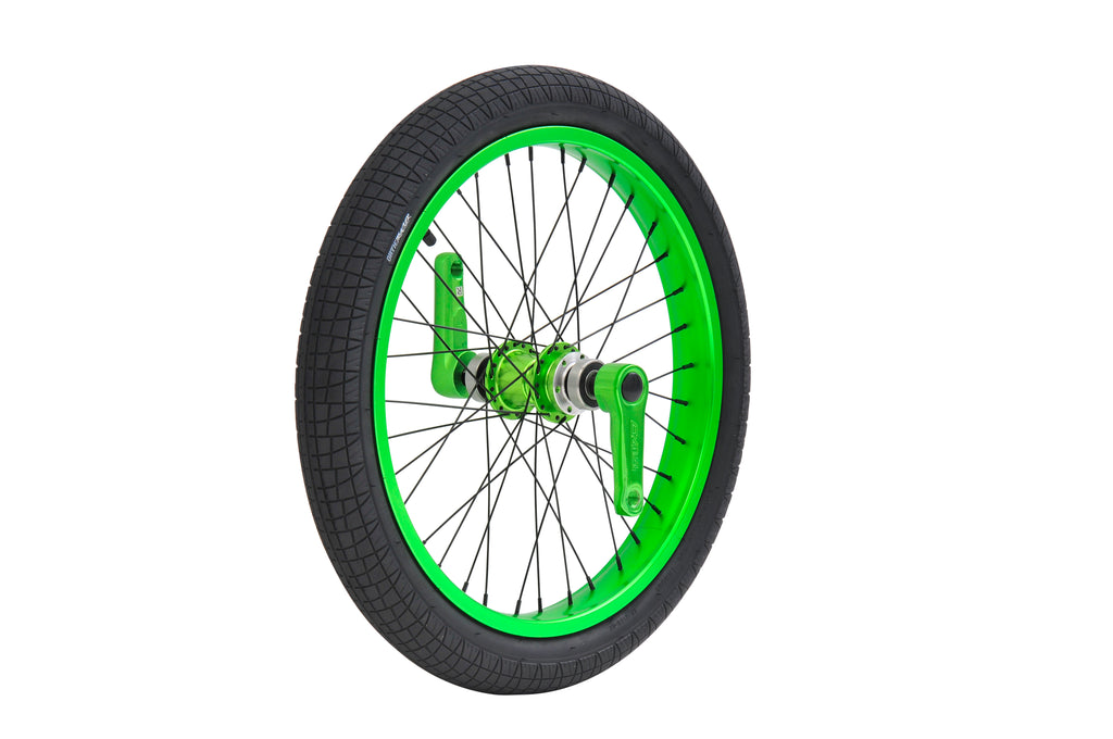 TRIAD DYNASTY FRONT WHEEL SET ANODIZED GREEN