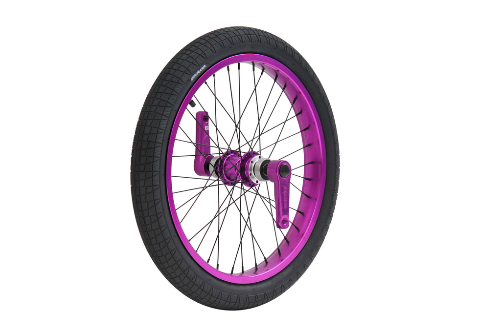 TRIAD DYNASTY FRONT WHEEL SET ANODIZED PURPLE
