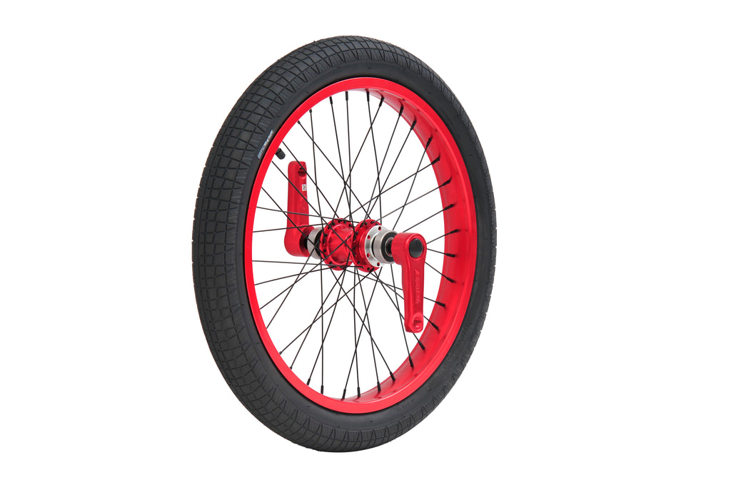 TRIAD DYNASTY FRONT WHEEL SET ANODIZED RED