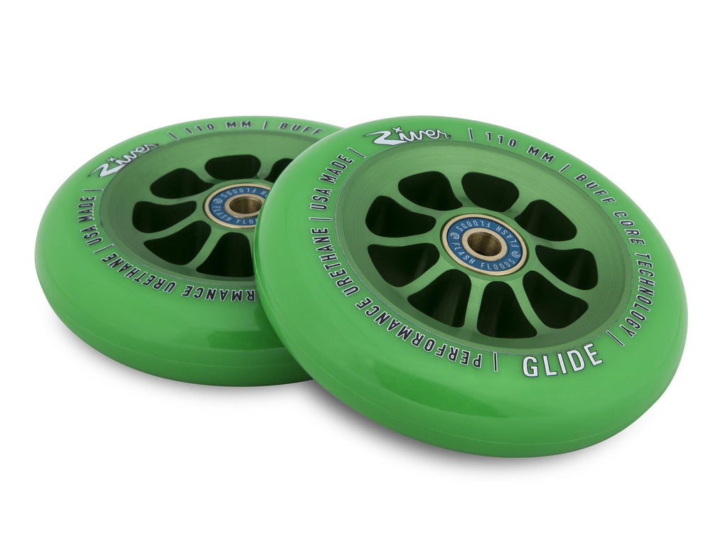 RIVER WHEELS EMERALD GLIDES 110MM WHEELS 2 PACK