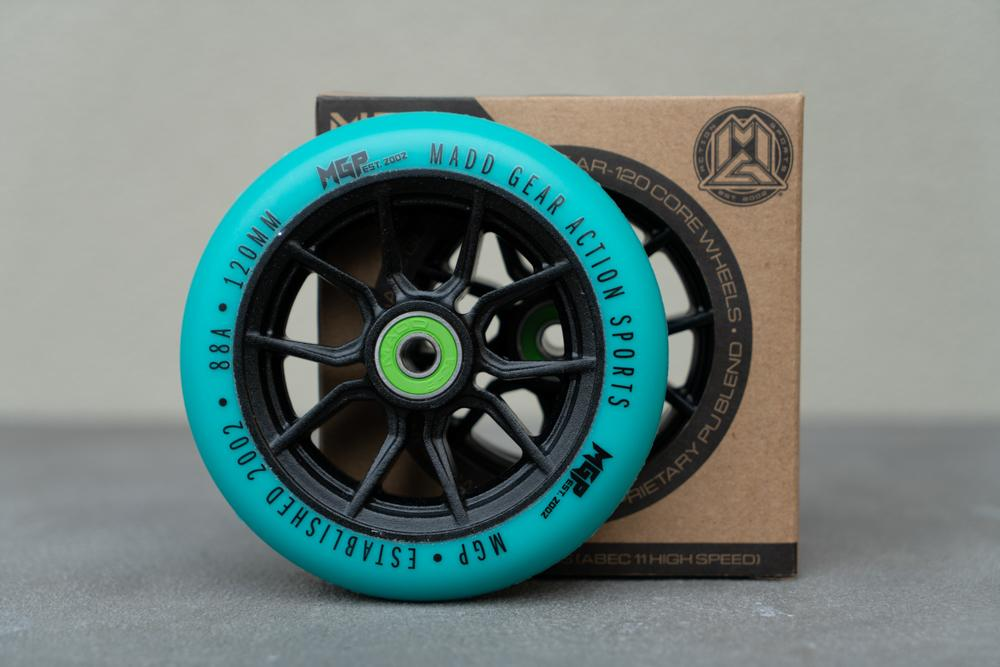 120MM SYNDICATE WHEEL TEAL. 2 PACK