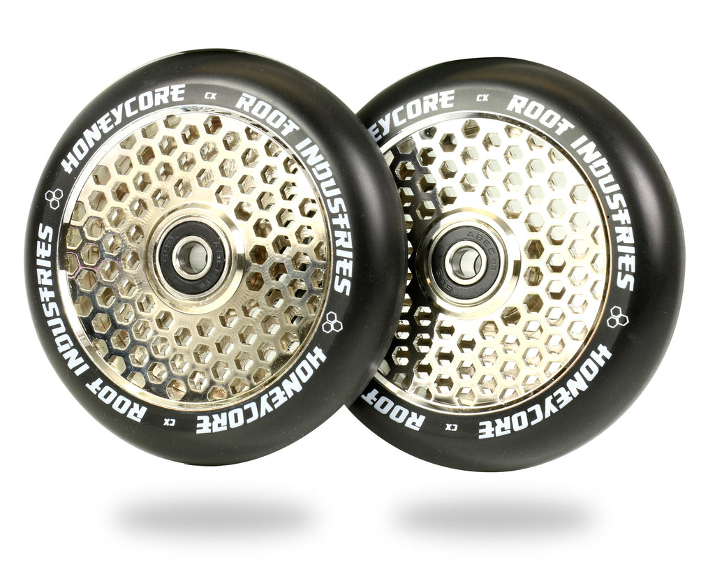 ROOT 110MM HONEYCORE WHEELS - BLACK / MIRROR 2 PACK