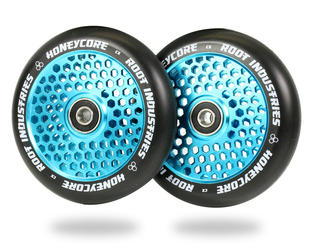 ROOT 110MM HONEYCORE WHEELS - BLACK / SKY BLUE 2 PACK