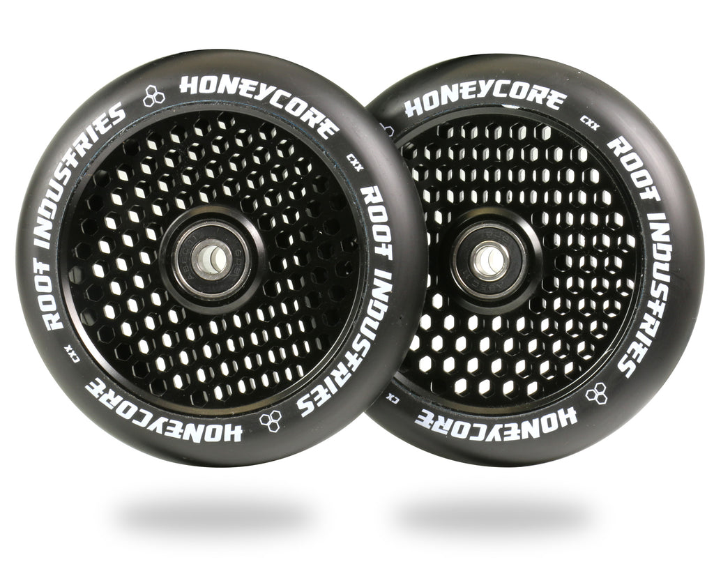 ROOT 120MM HONEYCORE WHEELS - BLACK / BLACK 2 PACK