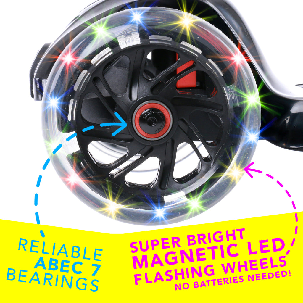 I-GLIDE 3 WHEELED SCOOTER BLACK WHEEL
