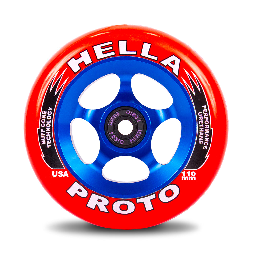 PROTO X HELLA TRIBUTE GRIPPER 110MM WHEELS RED ON BLUE 2 PACK