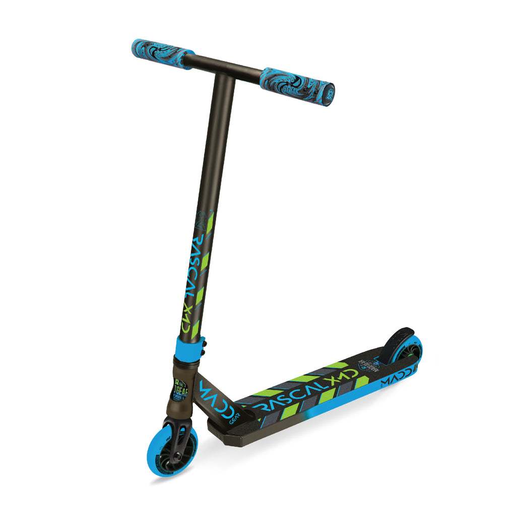 MADD GEAR KICK 2020 RASCAL SCOOTER BLUE / GREEN