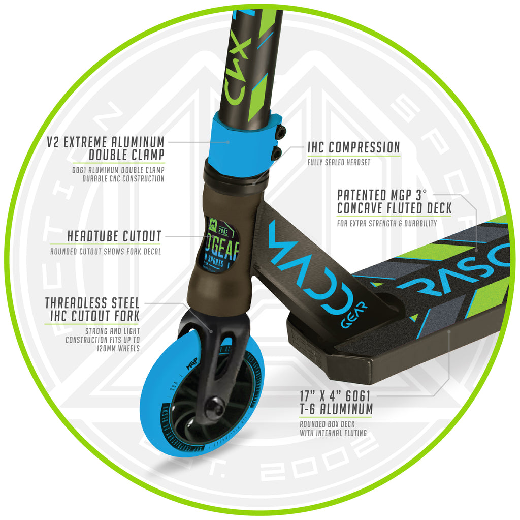 KICK RASCAL SCOOTER BLUE / GREEN