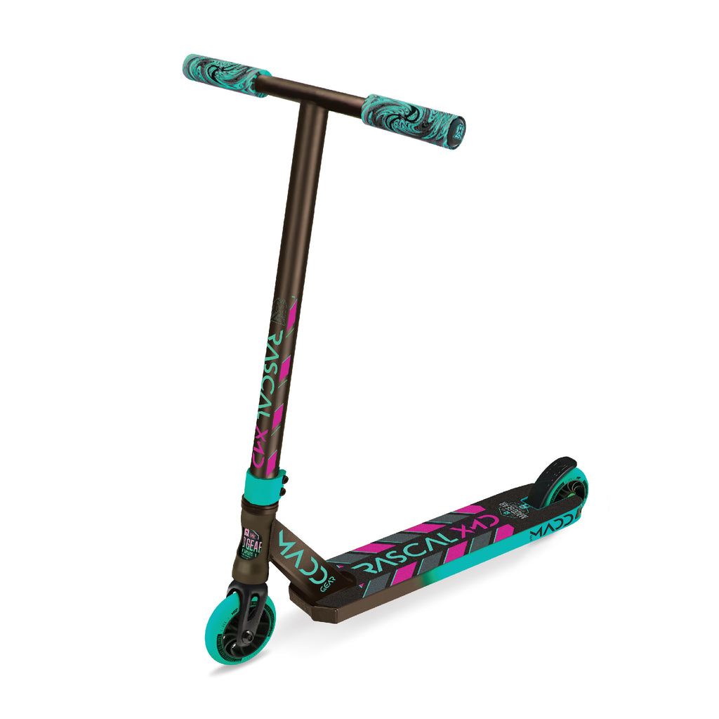MADD GEAR KICK 2020 RASCAL SCOOTER TEAL / PINK