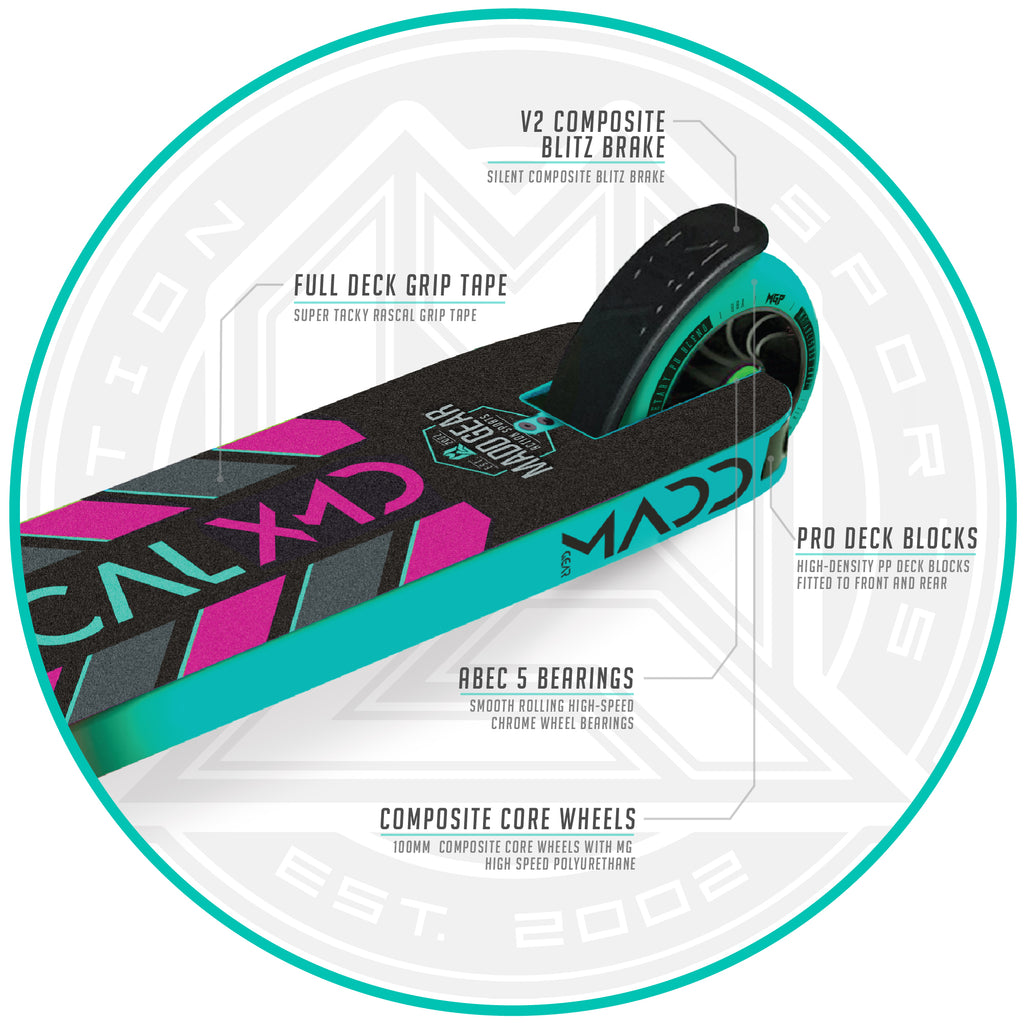 KICK RASCAL SCOOTER TEAL / PINK