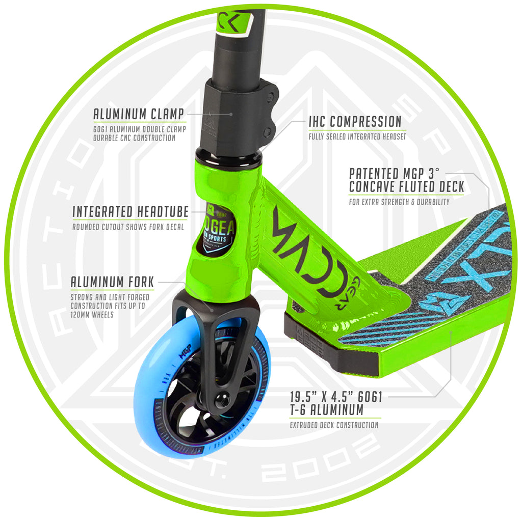 MADD GEAR KICK EXTREME SCOOTER GREEN / BLUE
